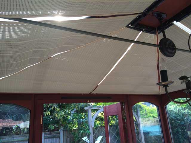 Marla conservatory pinoleum roof blinds