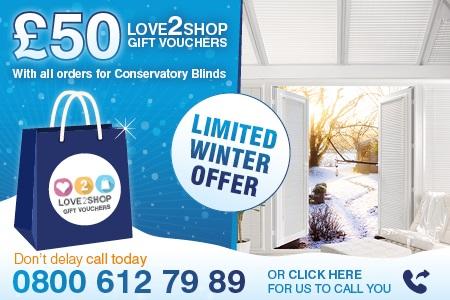 Marla Conservatory Blinds - Winter Offer