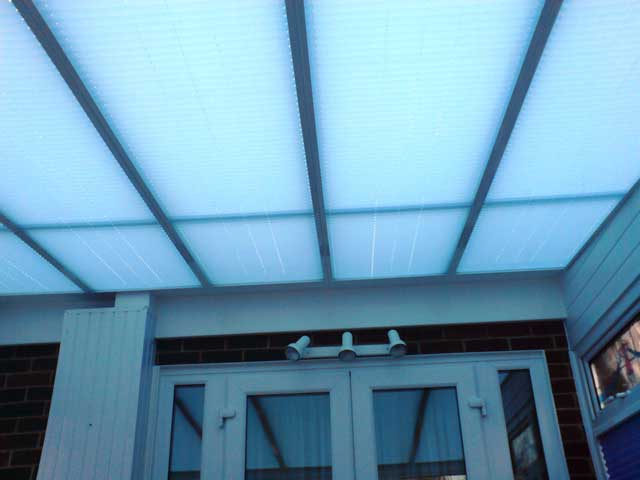 Marla conservatory pleated roof blinds