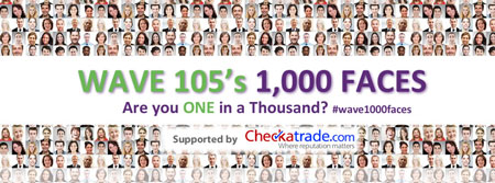 wave 105 - 1000 faces - charity